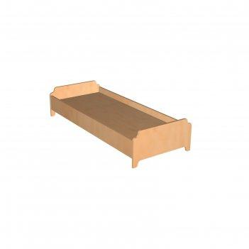 Кровать детская с фигурными спинками, лдсп, дно из мдф 10 мм, цвет бук, сп