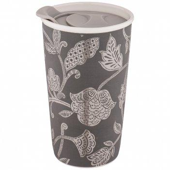 Кружка с пластиковой крышкой кофемания 430мл