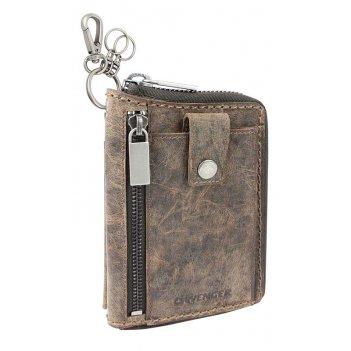 Портмоне wenger arizona, на молнии, коричневый, воловья кожа, 11,5×2,