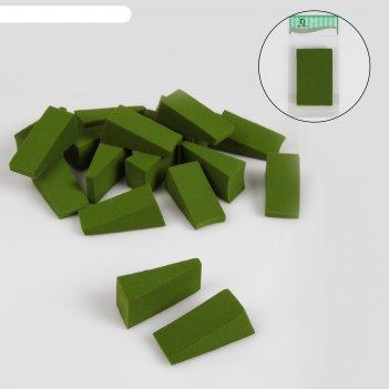 Набор спонжей для нанесения косметики, 24 шт, цвет зелёный