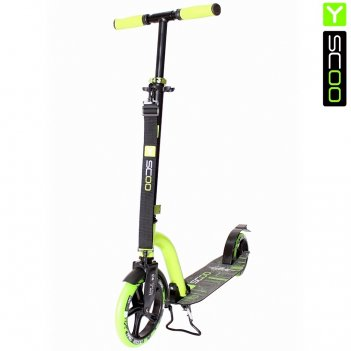 Самокат y-scoo rt 230 slicker new technology green