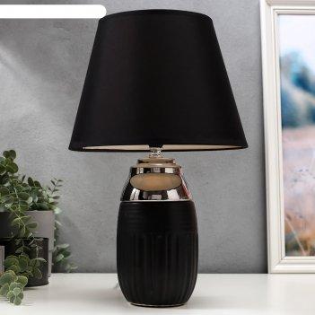 Лампа настольная 16313/1 e14 40вт черно-серебристый 24х24х39 см