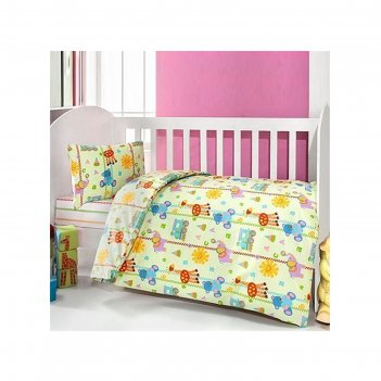 Комплект в кроватку игрушки, 6 предметов, цвет салатовый