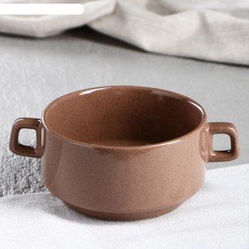 Бульонница 0.3 л, коричневая