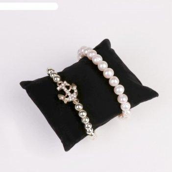 Подушка для украшений 8*6,5*3,5 см, цвет чёрный