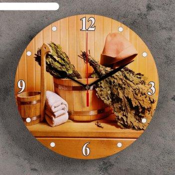Часы настенные для бани  вкусная баня