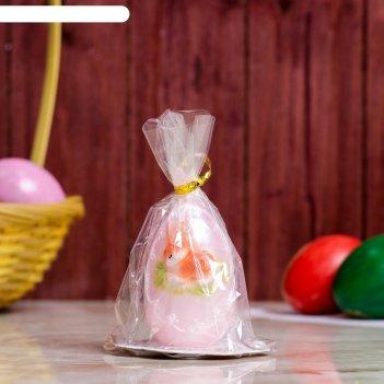 Свеча яйцо с кроликом