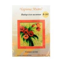 Набор для валяния картина символ весны в-101 17,5х18,5 см