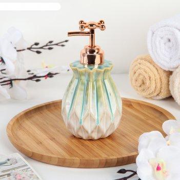 Дозатор для жидкого мыла «лолита», цвет бирюзовый