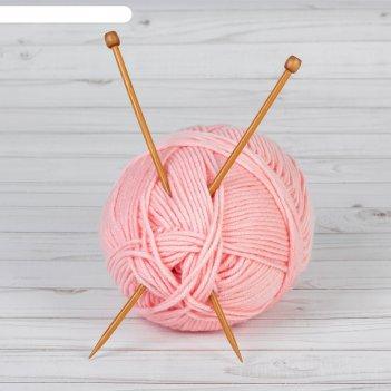 Спицы для вязания, прямые, d = 5 мм, 25 см, 2 шт