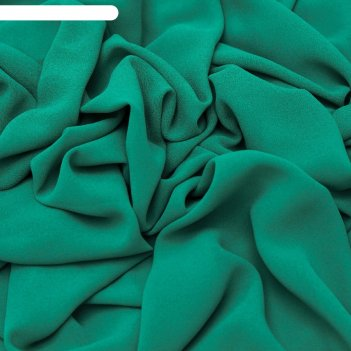 Ткань плательная, креп-шифон гладкокрашеный, ширина 150 см, зелёный, rh 17