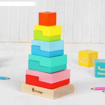 Пирамидка ступеньки, 10 деталей
