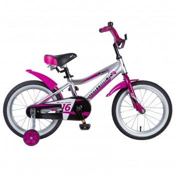 Велосипед 16 novatrack novara, цвет серебристый