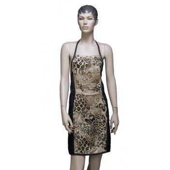 Фартук мастера для стрижки леопард 70 x 82 см dewal be07