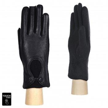 Перчатки женские натуральная кожа/шерсть (размер m) черный
