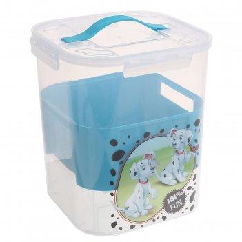 Контейнер для детских принадлежностей 10л disney бирюзовый м 2830-д