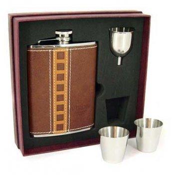 Подарочный набор viron: фляжка 230мл, 2 стаканчика, воронка