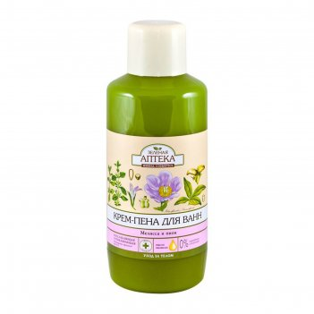 Крем-пена для ванн зелёная аптека «мелисса и пион», 1000 мл