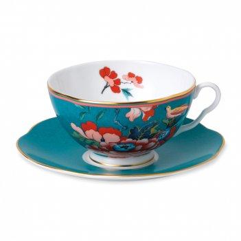 Пара чайная пионы, объем: 200 мл, материал: костяной фарфор, wgw-40032097,