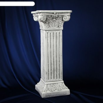 Колонна античная, серый камень 65х27см