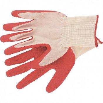 Перчатки полиэфирные с рельефным покрытием из нат латекса, 15 класс вязки,