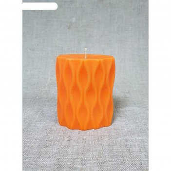 Свеча волна 9,5х11,5см, оранжевая