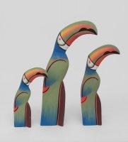 90-091 статуэтка зеленый тукан набор из трех 40/30/20 см