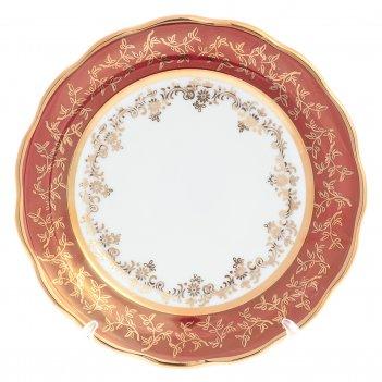 Набор тарелок sterne porcelan красный лист 17 см(6 шт)
