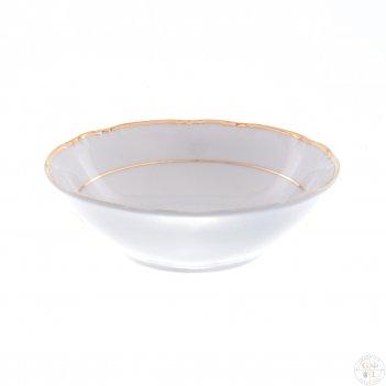 Набор салатников thun констанция отводка золото 13 см(6 шт)