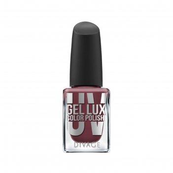 Гелевый лак для ногтей divage uv gel lux, тон №15