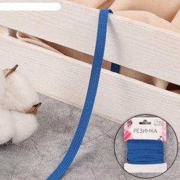 Резинка бельевая 7мм*5±0,5м d115 синий бобина ау