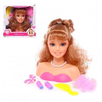 Кукла-манекен для создания причёсок, «кокетка» с аксессуарами
