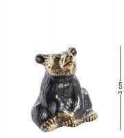 Am-1016 фигурка колокольчик-медведь (латунь)