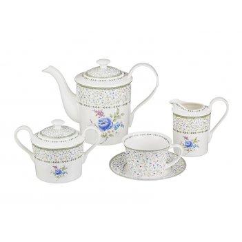 Чайный сервиз на 6 персон 15 пр.цветы 1800/200 м...