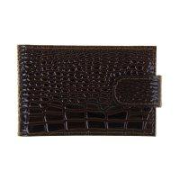Кредитница v-219/v-219 (коричневый темный крокодил мелкий) № 112