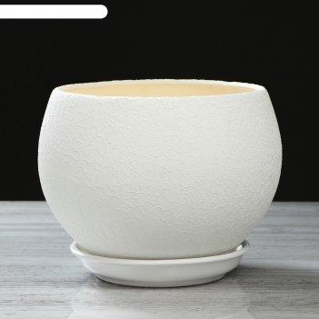 Горшок шар 4,1л шелк белый
