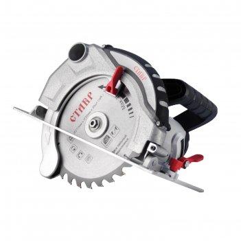 Пила циркулярная ставр пдэ-210/1800, 1800 вт, 5300 об/мин, диск 210х30 мм
