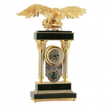 Каминные часы орел камень нефрит