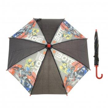 Зонт детский-трость transformers, d=68см