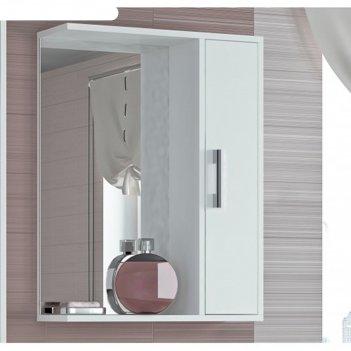 Шкаф-зеркало эко-55 20 х 50 х 75 см, белый правый