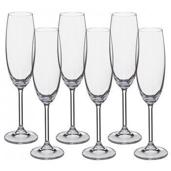 Набор бокалов для шампанского из 6 шт. gastro/colibri 220 мл высота=24 см