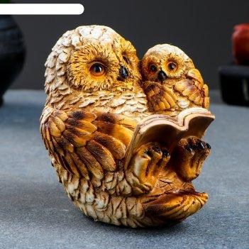Фигура сова и совенок(вид №3) 11х9х12см