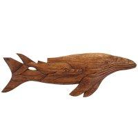 Панно декоративное стая дельфинов коричневый цвет 50х15х1 см