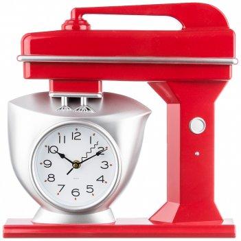 Часы настенные кварцевые chef kitchen 39 см цвет:красный (кор=6шт.)