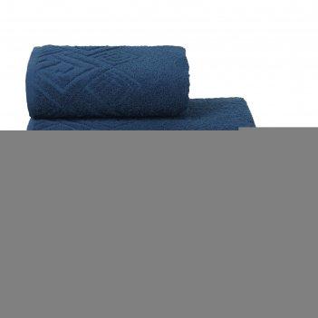 Полотенце махровое poseidon пл-1201-04000 1сорт цв. 352 синий, 100х150 хл.