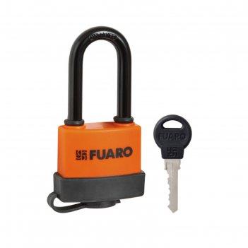 Замок навесной fuaro pl-3650 ls, 50 мм, длинная дужка, 3 англ. ключа