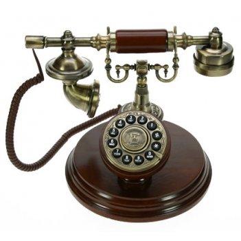 Ретро телефон d=20см (цвет вишневый) стилизованный под старину