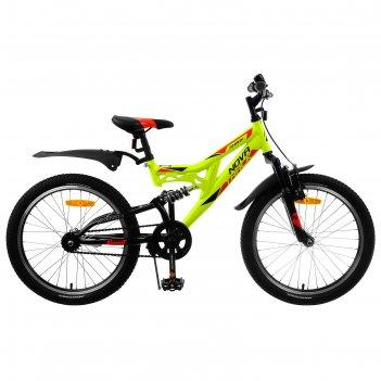 Велосипед 20 novatrack shark, 2020, цвет салатовый