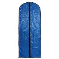 Чехол для одежды прозрачный, цвет синий