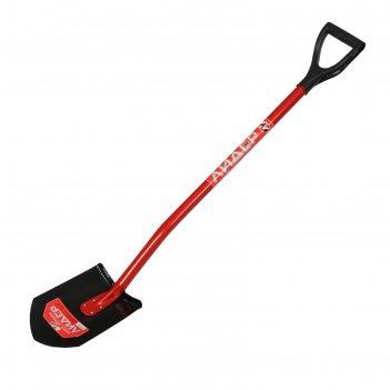 Лопата универсальная, металлический черенок, с ручкой, «лидер»